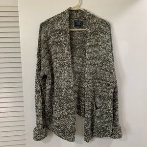 Green and white Abercrombie Cardigan